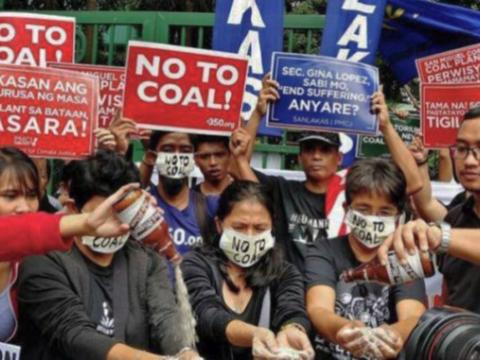 coal protesters in the Philippines