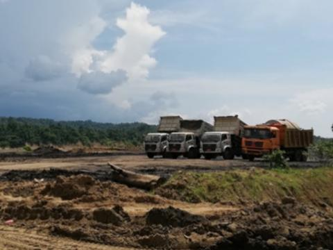 Coal staging area in Sagaing region